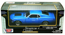 "MotorMax 1:24 scale 1970 Ford Mustang Boss 429 diecast model car Blue 8"" Long"