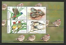 AUSTRALIA 2018 FINCHES BIRDS CANBERRA STAMPSHOW SOUVENIR SHEET OF 4 STAMPS MINT