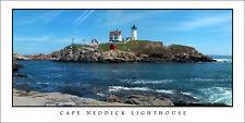 Poster Panorama Cape Neddick Lighthouse Maine Panoramic Fine Art Print Photo
