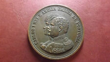 Restoration of Portuguese Monarchy? 1908 Large Medal King Carlos and Amelia