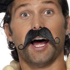 Hommes Français déguisement Tash moustache noir nouveau par SMIFFYS