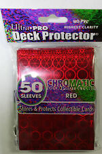 Ultra-Pro Chromatic Deck Protector CHROMATIC RED Standard Size 50ct