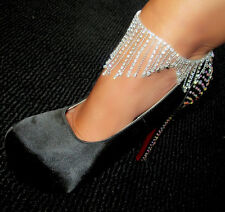 Shower Drop Dead Sexy  rhinestone crystal Drapes and Drapes of sparkle anklet