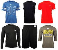 Under Armour Mens HeatGear Shirt Top Shorts Baselayer Vest Tee Running Gym Short
