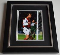 Dennis Bergkamp SIGNED 10X8 FRAMED Photo Autograph Arsenal Football Display COA
