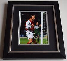 Dennis Bergkamp SIGNED 10X8 FRAMED Photo Autograph Arsenal Football Display COA