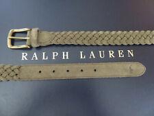 Polo RALPH LAUREN Belt Men's Waist 40 Braided Suede in Green Moss
