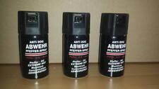 3 Stück Anti Dog Abwehrspray 40ml Pfefferspray Tierabwehr