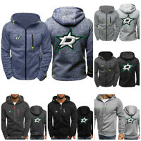Dallas Stars Hoodie Ice Hockey Sporty Sweatshirt Full-zip Jacket Coat Fans Gift