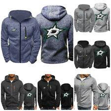 Dallas Stars Hoodie Ice Hockey Sporty Sweatshirt Full-zip Jacket Coat Fans Gift