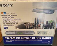 SONY ICF-CDK50 AM/FM/CD Under Cabinet Kitchen Clock Radio Spacesaver New Open