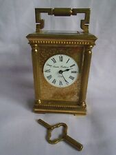 CHARLES FRODSHAM VINTAGE VENITIENNE CARRIAGE CLOCK + KEY IN GOOD WORKING ORDER