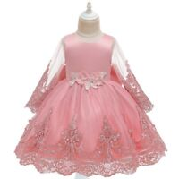 Girl's Flower Princess Dresses Party Evening Gown Kid's Fairy Dress Xmas Gift