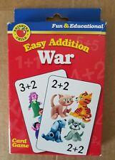 Brighter Child EASY ADDITION WAR Kid's Child CARD GAME COMPLETE!