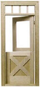 Dollhouse Miniature Crossbuck Dutch Door - Houseworks #6009 - 1:12 Scale