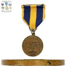 1898 US NAVY SPANISH CAMPAIGN MEDAL SPLIT WRAP BROOCH 1923 BASTIAN BROS CONTRACT
