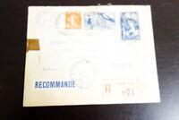 France 1933 Registered Cover to Cresskill NJ Condition VF