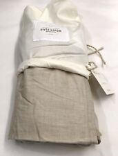 Restoration Hardware Windsor Woven Plaid Full Bed Skirt 100% Cotton Flax NEW $89