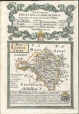 Antique map, Radnorshire / The Road from Oxford to Salisbury &c.