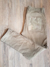 NEXT Tapered 100% Cotton Men's Trousers 34L Military Green
