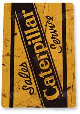 Caterpillar Metal Sign Shop Garage Tractor Heavy Equipment Sign Tin Sign B480