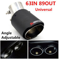 Universal Modified Carbon Fiber Look Exhaust Pipe Muffler End Tip For Auto Cars