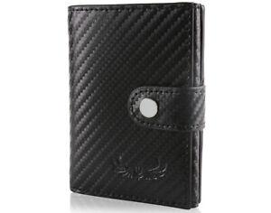 HAFEID Kartenetui mit RFID Schutz - Geldbörse Münzfach - Portemonnaie Geldbeutel
