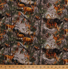 Flannel Realtree Camouflage Woods Hunting Camo Deer Flannel Fabric BTY D280.34