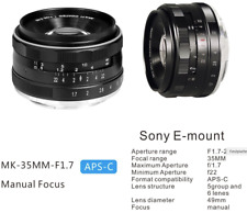Meike 35 mm f/1,7 Manueller Fokus Fixed Objektiv Lens Tele Zoom √ Sony E Mount
