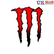 Monster Energy Car Sticker, Graphic, Decal, Bumper, Red - UK Seller