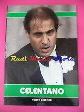 BOOK LIBRO ADRIANO CELENTANO biografia + foto colori FORTE EDITORE no*cd lp dvd