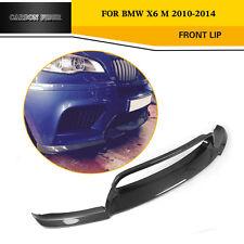 Schwarze Kohlefaser Vor Stoßstange Lippen Fit für BMW X5M X6M M Stoßstange10-14