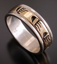 size 6 ~ 14K GOLD AND Silver ~ Bear Claw Ring by P. Skeets                PS51C
