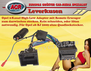 2-KANAL HIGH-LOW ADAPTER MIT REMOTE ADAPTER CHEVROLET CRUZE + ORLANDO