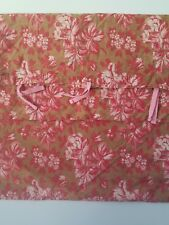 Pottery Barn PB Teen Tan Red Floral Standard Pillow case