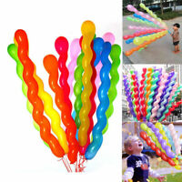 10 pc Bunte Spirale Latex Luftballons Hochzeit Kinder w/ Party Geburtstag D H4K3