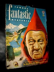 FAMOUS FANTASTIC MYSTERIES February 1952 - Pulp - Gilbert Collins Major Reynold!