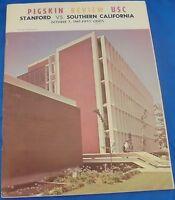 College Football Game Program October 7 1967 USC Trojans Vs. Stanford Indians