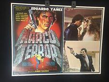 1985 Narco Terror Eduardo Yanez Original Mexican Movie Lobby Card -A302