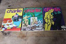 Lot 3 revistas - Mensual CHARLIE - N°133, 134 et 135 - 1980