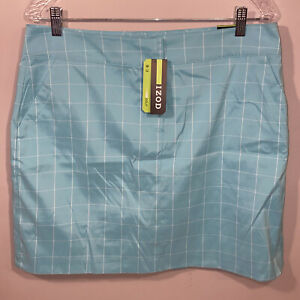 Izod Golf 12 Mint Green White New Skirt Shorts Combo Skort Women Sport Ladies
