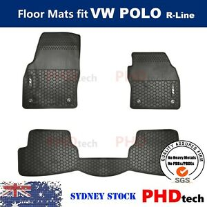 All Weather Rubber Car Floor Mats fit Polo R-Line 2017-2021 Current Generation