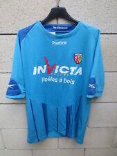 Maillot R.C LENS 2010 bleu extérieur REEBOK football shirt 16 ans XS