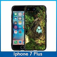 Blue Robin Eggs In Nest For Iphone 7 Plus & Iphone 8 Plus (5.5) Case Cover