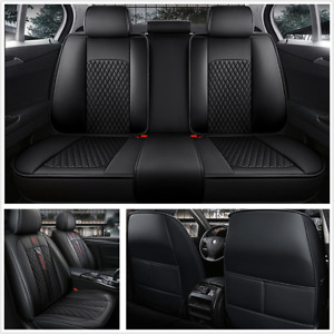 Deluxe Edition Seat Covers Protector Full Set Four Seasons Fit For 5-Seats Car