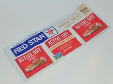 RED STAR ACTIVE DRY YEAST ALL NATURAL NON GMO BAKING BREAD DOUGH 3 PACKETS