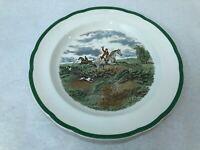 """Vintage Spode J.F. Herring The Hunt """"Going to Halloa"""" Dinner Plate, 10 3/8"""" Dia"""