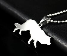 Herding Border Collie Australian Aussie Scottish Sheepdog Dog Pendant + Necklace