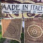 VTG ITALIAN ITALY For Bereh Co. SYMBOLIC GOLDEN Multicolored TEXTILE w Fringe 56