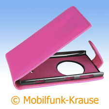 Flip Case Etui Handytasche Tasche Hülle f. Nokia Lumia 1020 (Pink)